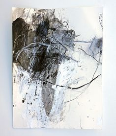 Sango iro no tsubomi Acrylic and charcoal on Hahnemuhle Bamboo - abstract art 2 - Kunst Art Blanc, Modern Art, Contemporary Art, White Art, Painting & Drawing, Drawing Tips, Art Drawings, Drawing Faces, Art Photography