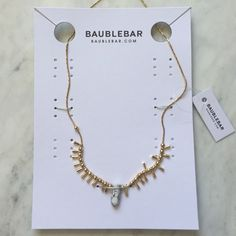 Baublebar Howlite/Gold Necklace Brand new, never worn. Comes with original tags and packaging Baublebar Jewelry Necklaces