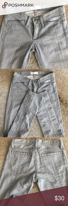 Habitual Gray Jeans Like new size 24 Habitual NY/LA skinny jeans with a straight leg. Gorgeous washed gray color, with a great seam detail down the back of your leg. Habitual Jeans Skinny