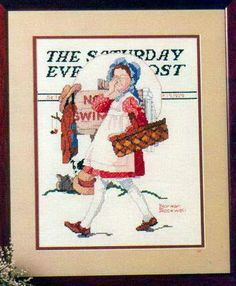 Saturday Evening Post Pilgrim /& Football DIGITAL Counted Cross-Stitch Chart