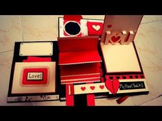 Caixa/cartao-surpresa - Exploding box scrapbook.wmv - YouTube