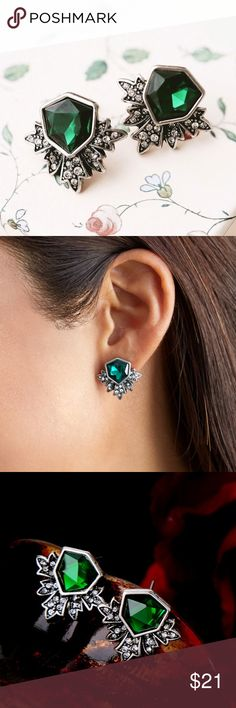 "Dazzling Stud Earrings arriving, zinc alloy, crystals  ❤Add this to your ""likes"" to get sales news. Optional: Purchase ""arriving"" items now & I'll automatically ship them to you when they arrive back in stock. Jewelry Earrings"