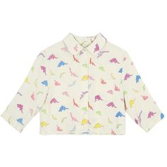 dinosaur crop shirt multicolor - thewhitepepper.com