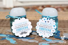 Thank You for Celebrating the Mommy to Be and Her HANDSOME Little Man Tags, Baby Showers, Baby Boy, Mustache, Hearts by CaffeinatedSquirrel on Etsy Baby Shower Deco, Simple Baby Shower, Baby Shower Balloons, Baby Boy Shower, Baby Showers, Baby Shower Thank You Gifts, Baby Shower Gifts For Boys, Baby Gifts, Little Man Shower