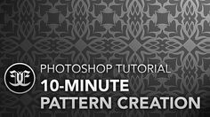 A real quick tutorial on a grid-style pattern. Maybe you'll find a use for it somewhere - enjoy!