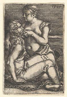 Pero zoogt de geketende Cimon in de gevangenis, Barthel Beham, 1525 - Rijksmuseum Prison Cell, Landsknecht, Art Of Seduction, Fine Art Prints, Canvas Prints, Afraid Of The Dark, Sculpture, Gravure, Thing 1