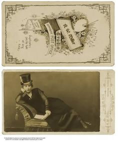 How about how to make authentic looking cabinet cards