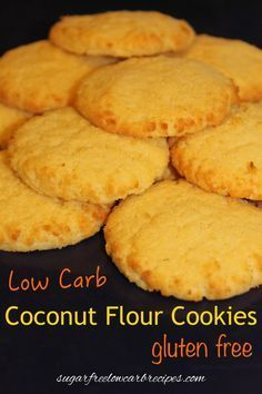 Basic Coconut Flour Cookies. These can be dressed up with a sugar-free glaze or chocolate drizzle if desired.