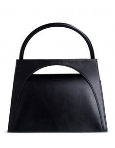 J.W. Anderson Moon Black Cut-Out Leather Tote