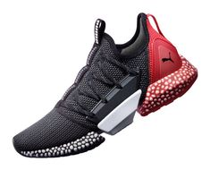 "The PUMA Hybrid Rocket mixes PUMA's two most innovative technologies, IGNITE FOAM and NRGY beads, to create a ""hybrid"" foam releasing in July Mens Puma Shoes, Puma Sneakers, Best Sneakers, Sneakers Fashion, Fashion Shoes, Puma Sports Shoes, Shoes Sport, Puma Mens, New Shoes"
