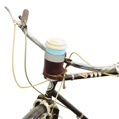 Cruzy Leather Bike Cup Holder Handmade by Hide & Drink — The Stockyard Exchange Bike Cup Holder, Drink Holder, Canvas Leather, Bonded Leather, Soft Leather, Large Containers, Leather Conditioner, Leather Pieces