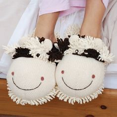 Cow Slippers, I got these for Christmas  :)