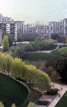 Parc de la Villeneuve, by Michel Corajoud, Grenoble, France, 1974