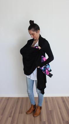 The Black long sleeve Breastfeeding Cardigan. Breastfeeding, Maternity, Breast Feeding