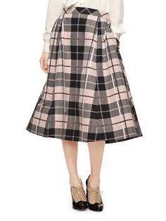 woodland plaid midi skirt by kate spade new york