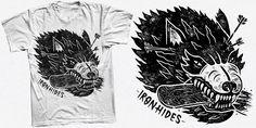 """""""Wolf"""" t-shirt design by Valér Hympán"""
