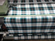 Weaving the first roll of Bonnie Shadow Tartan. Even our weaver thinks it looks beautiful! Tartan Plaid, Weaving, Velvet, Dance, Pure Products, Beautiful, Design, Style, Dancing