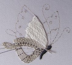 silver to a butterfly wing