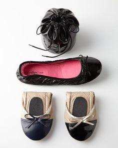 Quilted Cap-Toe Travel Flats $14 http://rstyle.me/n/drhycnyg6: