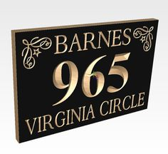 House Number Wooden Carved Street Address by TKWoodcrafts on Etsy, $34.95