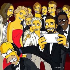 The Simpsons at the Oscars.