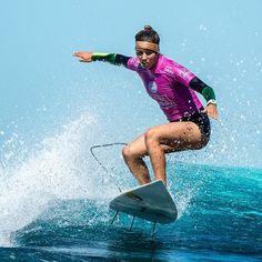 Sally Fitzgibbons putting on an a-class performance today! #FijiPro Image via @joliphotos @sally_fitz ;) #Surf #fiji