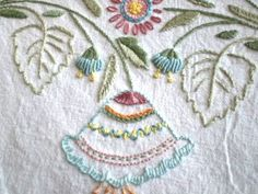Sallys Bread Cloth 3 Photo:  I used Mary Corbet's Spring Towel pattern: http://www.needlenthread.com/2009/04/hand-embroidered-spring-thing-and-why.html.  This was a gift.