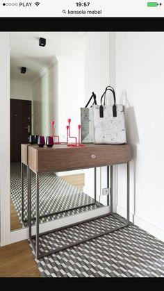 Gres i terakota w modnym kolorze szarym Boconcept, Design Furniture, Dom, Small Spaces, Ikea, Mirror, Home Decor, Houses, Inspire