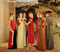 """""""The Betrothal"""", ca. 1470, by an unknown Italian artist."""
