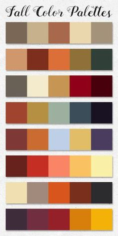 Free download ~ Fall Color Palettes ~ courtesy of hgdesigns.co