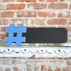 Hashtag Chalkboard 9x24 - Twitter trending tweets, many colors available. $25,00, via Etsy.