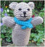"""Easy Teddy Hand Puppet - Free Knitting Pattern - PDF File, scroll down and click """"Knitted_Toy_Teddy_Hand_Puppet.pdf"""" in red letters beside Teddy Picture here: http://www.knit-a-square.com/easy-knitting-pattern"""