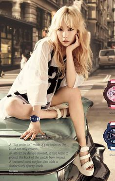 #SNSD #GIRLSGENERATION #CASIO #GG #BABYG #TAEYEON More of SNSD's hot and cool pictures for Casio Watches ~ Wonderful Generation