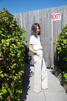 Shirt and wide leg trouser #minimalist #fashion #style