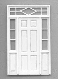 o scale paper fence template   DOOR W/SIDE PANELS 1:48 O gauge DOOR-501