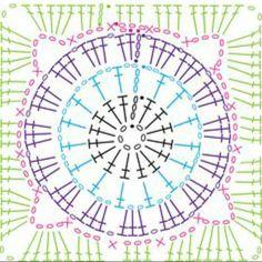 """#crochetdiagram #grannysquares #grannysquare #diagramcrochet"""