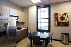 Breakroom just like home at ForSight Eye Center designed by Barbara Wright Design