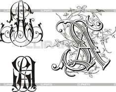 Monograms | Stock Photos and Vektor EPS Clipart | CLIPARTO