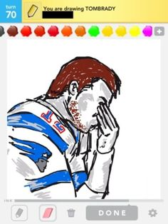its an amazing drawing and the giants won the super bowl.