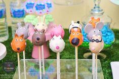 Third Birthday, 3rd Birthday Parties, 1st Birthday Girls, Birthday Ideas, Peppa Pig Y George, George Pig, Cake Pops, Pig Birthday Cakes, Butterfly Birthday Party