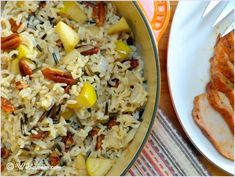 Harvest Rice with Apples and Pecans   By: Anne Papina   This Harvest Rice recipe just feels like fall and is the result of making do with ingredients on hand one fall afternoon. My niece, Jen, was visiting for dinner, and as I was throwing this together, she wondered how I knew it would ultimately work out. I didn't really, but sometimes cooking is about taking chances. Neither of us remember the main course that day–the rice was hands-down the star of that dinner.   From…