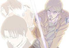 Levi, Mike, Hanji, and Erwin