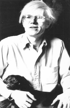 Andy Warhol & his dachshund.