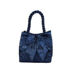 Elegantní dámská saténová kabelka Naraya modrá NNBS100102
