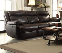 1PerfectChoice Macpherson Cocoa Bean Top Grain Leather Match Motion Sofa  Couch ** You Can Find