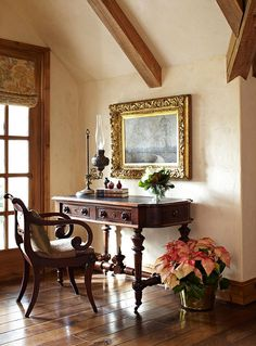 French-Creole Colonial style home in Houston. Interior Design by Sandra Lucas, Architect: Robert Dame