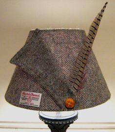 Harris Tweed Lampshade- Herringbone Collar- Medium- 30cm | eBay