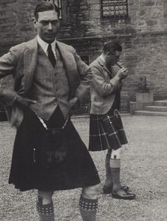The Duke of York (George VI) and the Prince of Wales (Edward VIII)