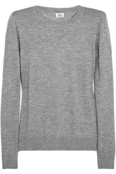 Just looks the most comfy. Classic cashmere sweater by Iris & Ink.