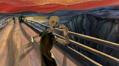 A Fantastic Animated Version of Edvard Munch's Painting 'The Scream' Set to a Pink Floyd Soundtrack